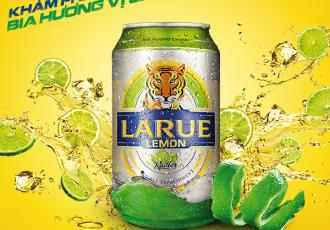 Bia hương vị chanh Larue Lemon có mặt tại Việt Nam